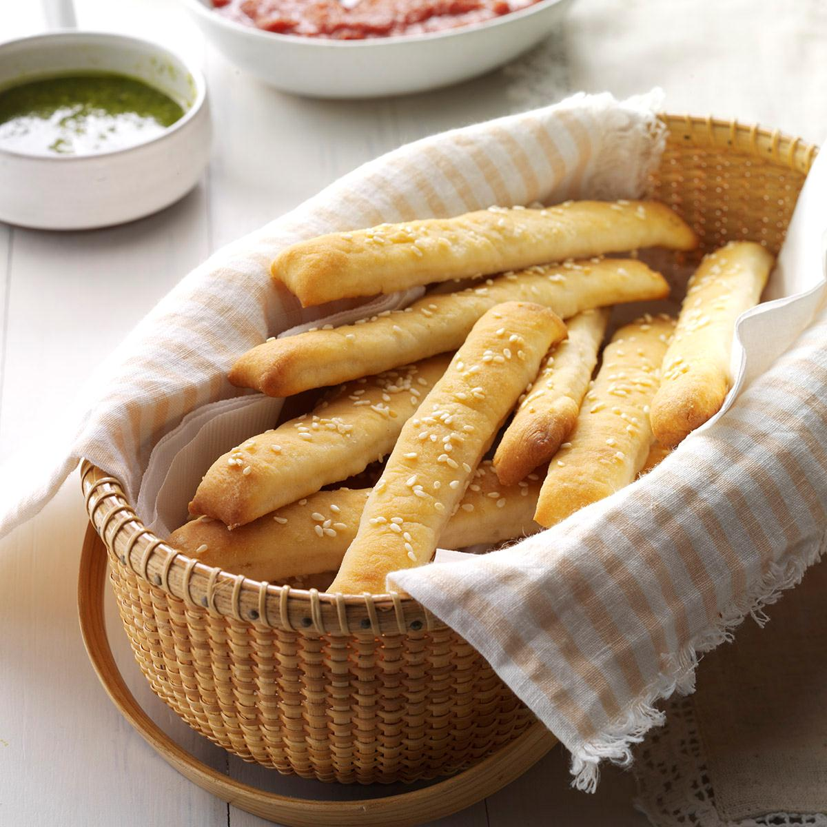 6 Dishes Health Nuts Order At Olive Garden: Soft Sesame Breadsticks Recipe