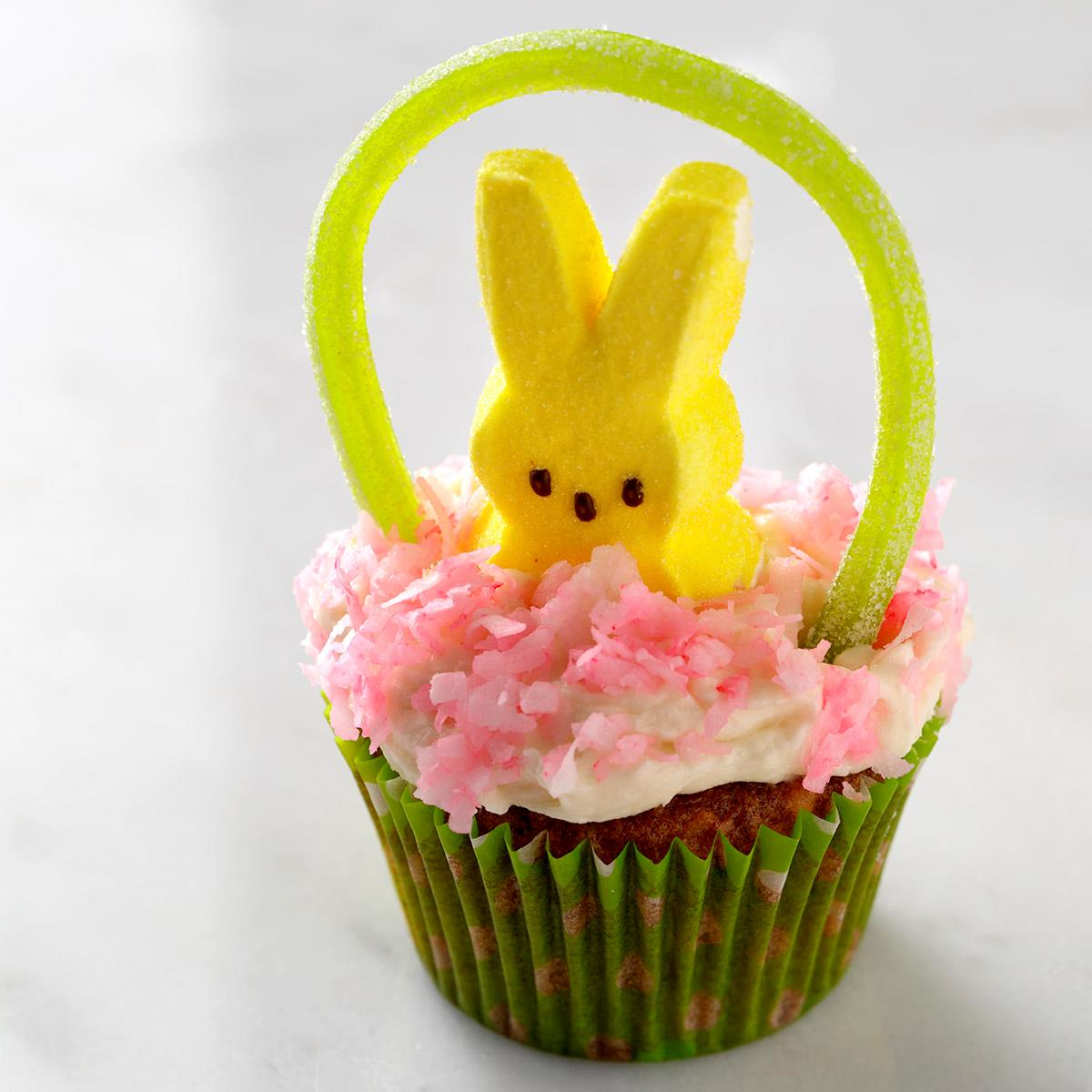Easter basket cupcakes recipe taste of home negle Images
