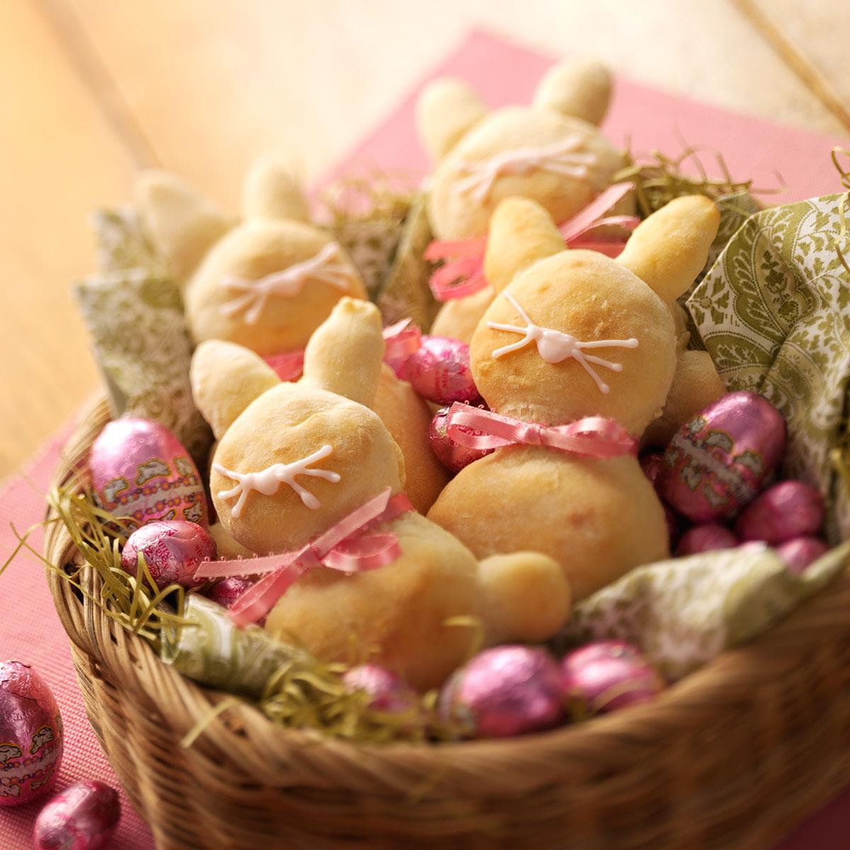 Easter bunny breads recipe taste of home negle Images