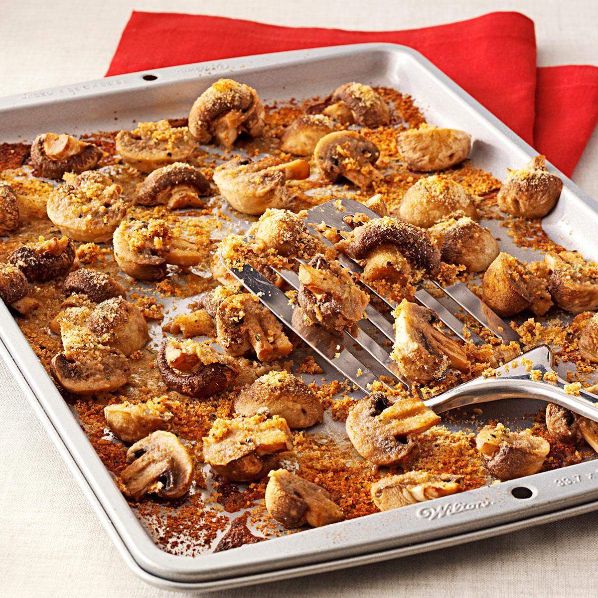 Easy baked mushrooms recipe taste of home forumfinder Choice Image