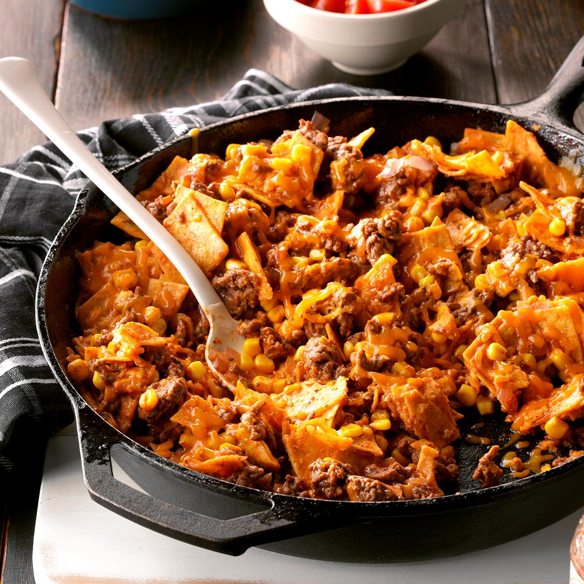 Easy Dinner Ideas With Hamburger: Easy Beef Taco Skillet Recipe