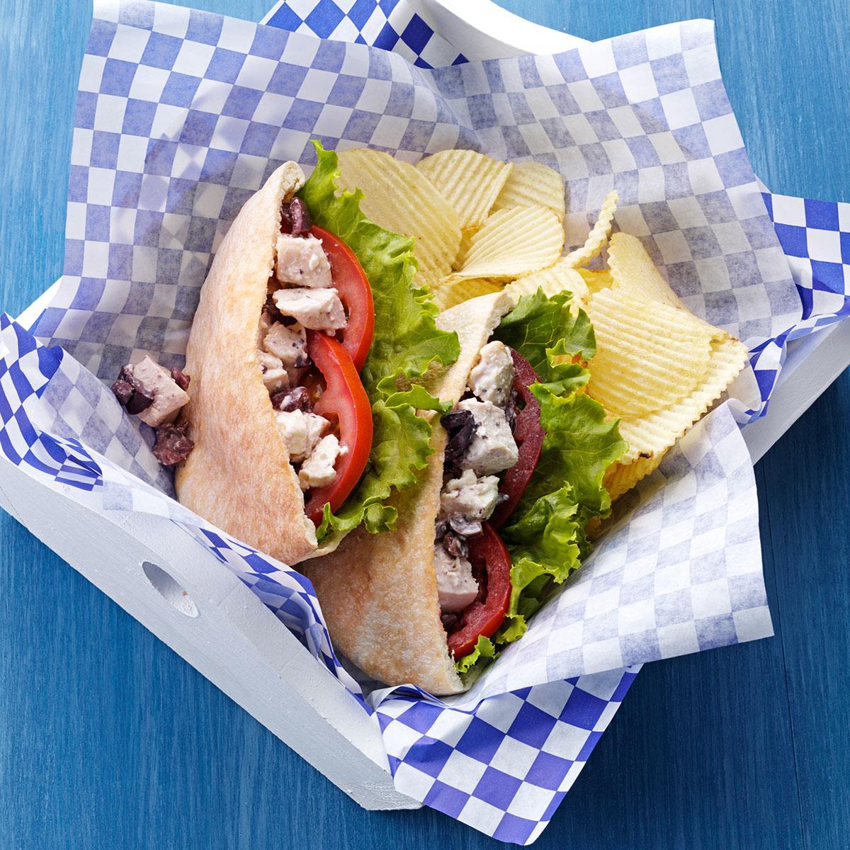 Easy Greek Chicken Sandwiches Recipe Taste Of Home