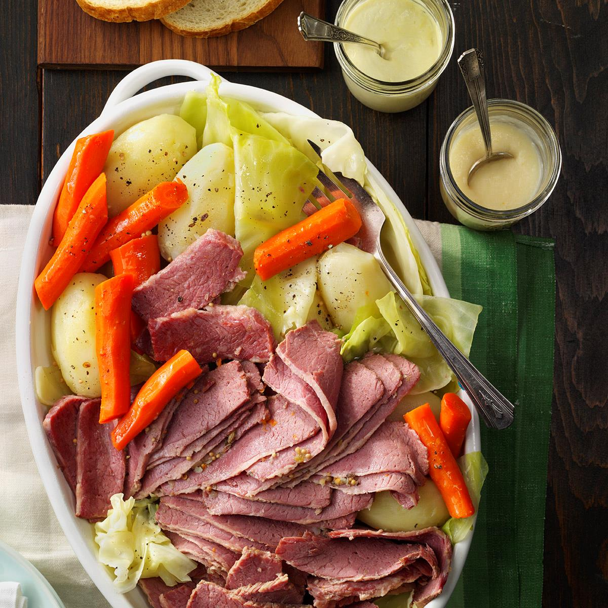 Favorite corned beef and cabbage recipe taste of home for What to do with salt beef