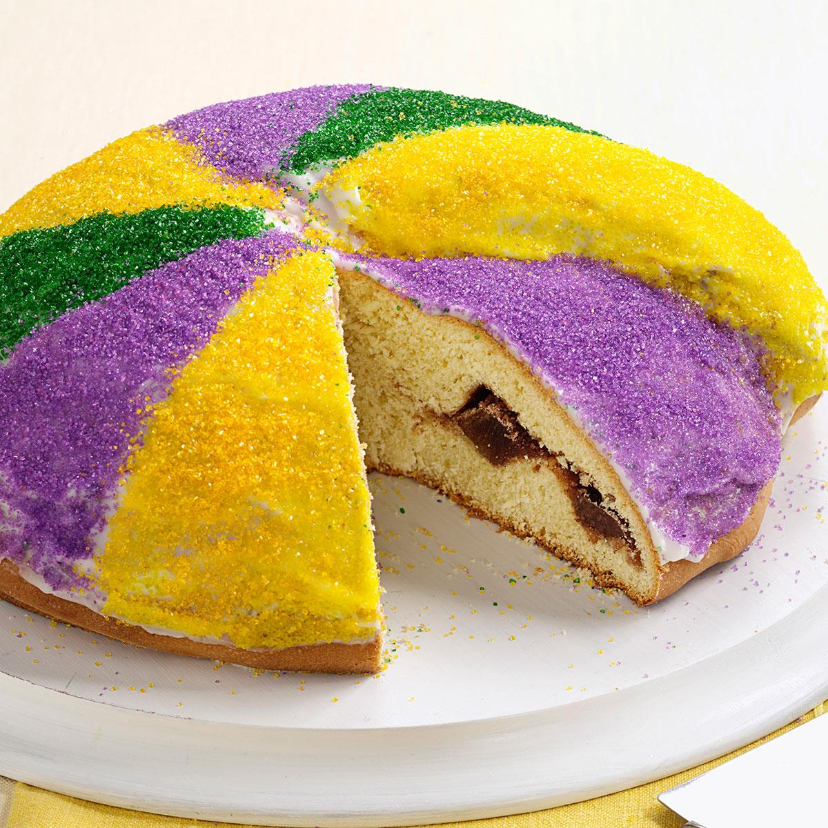 king cake recipe festive king s cake recipe taste of home 5318
