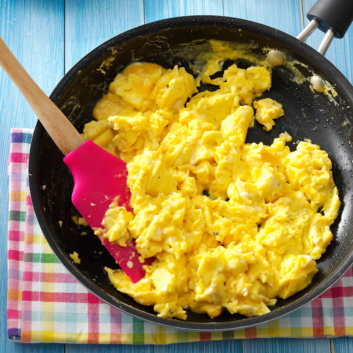 Fluffy Scrambled Eggs Recipe