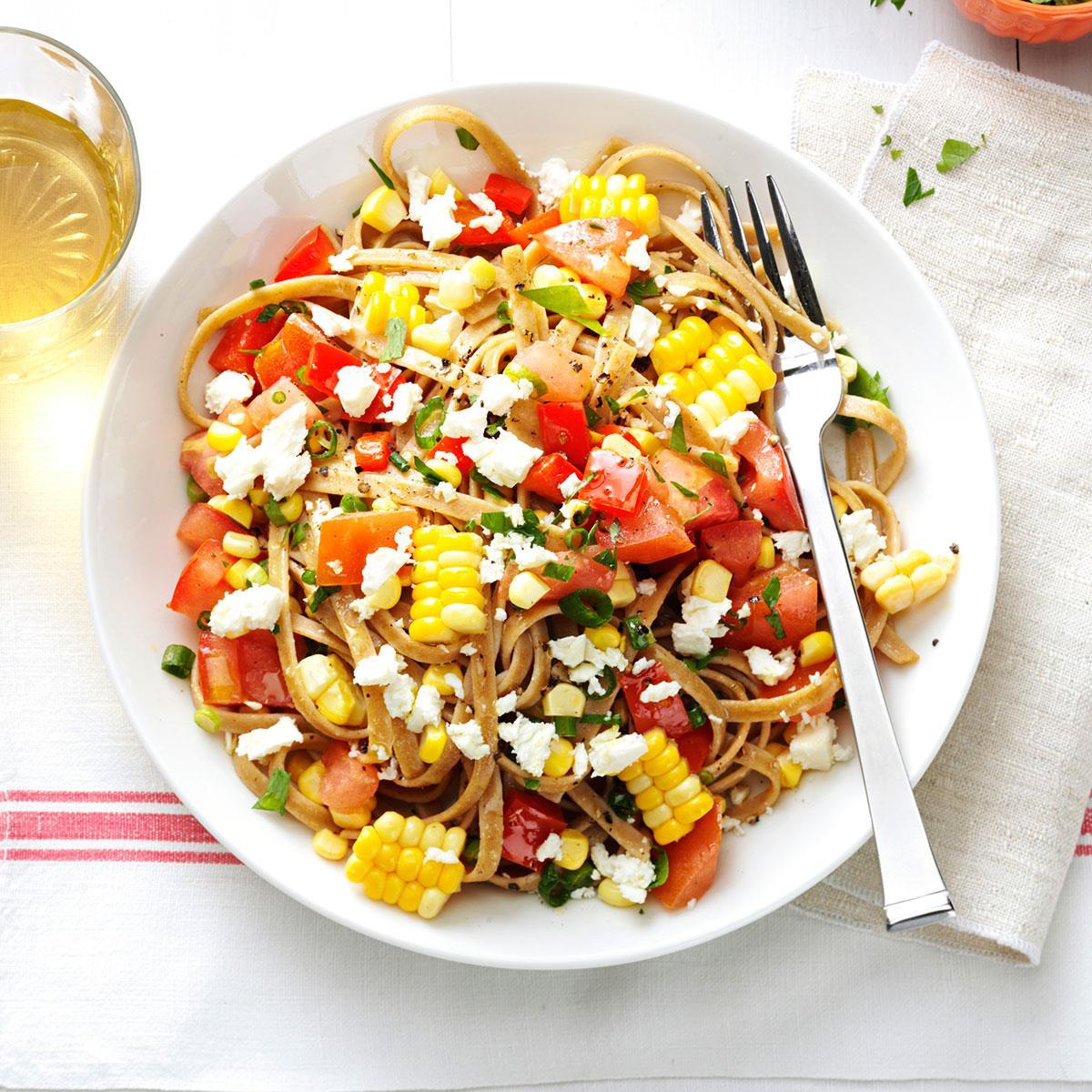 Fresh Corn & Tomato Fettuccine Recipe