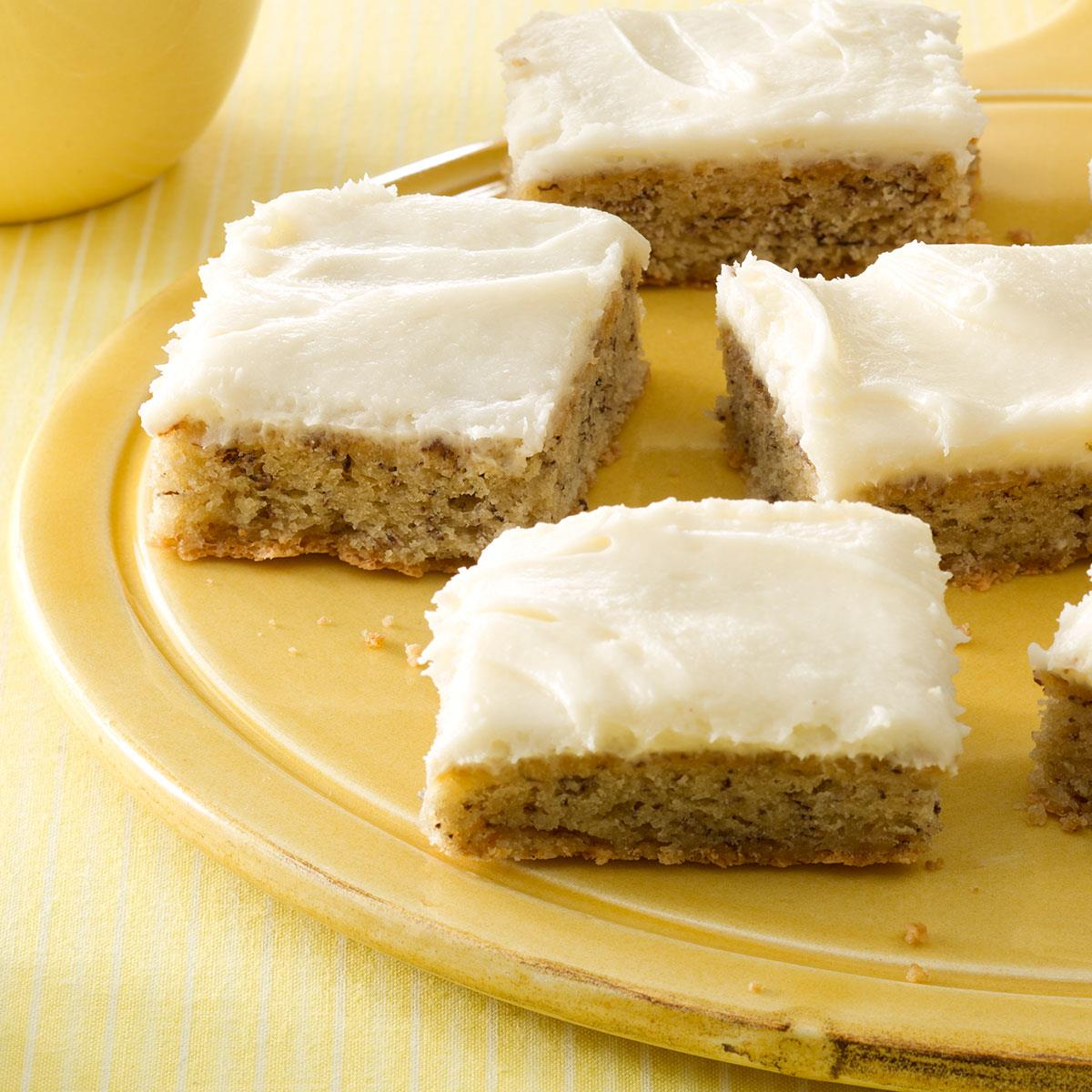 Frosted banana bars recipe taste of home forumfinder Images
