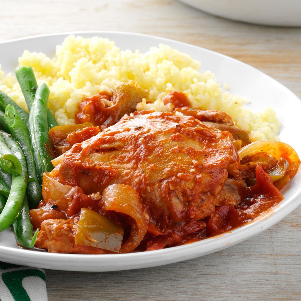 Garden chicken cacciatore recipe taste of home for Home and garden recipes