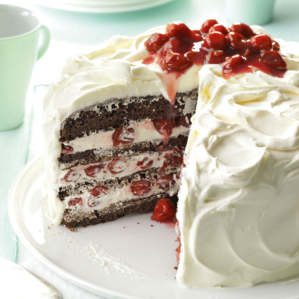 Black Forest Roll Cake Recipe