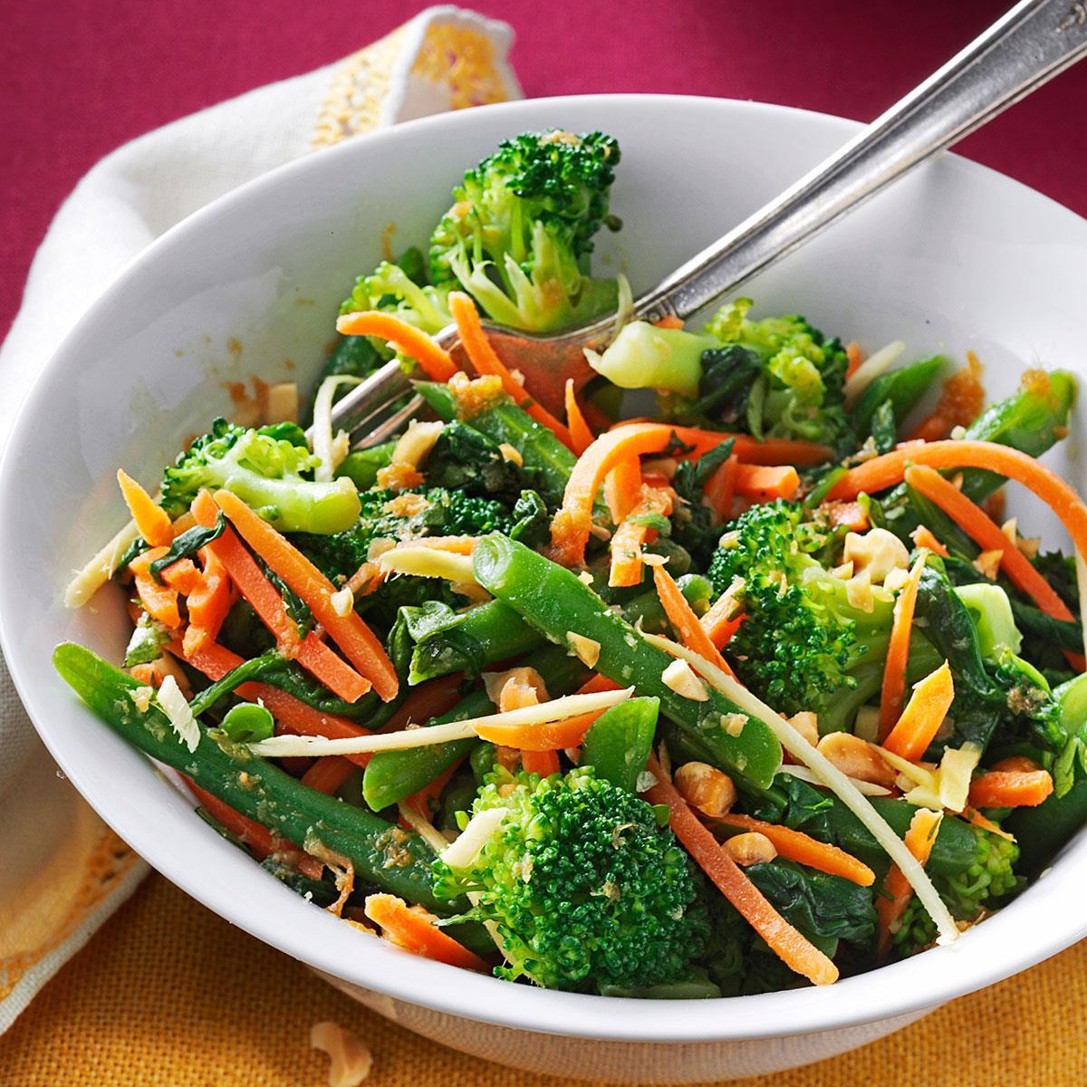 Ginger-Sesame Steamed Vegetable Salad Recipe