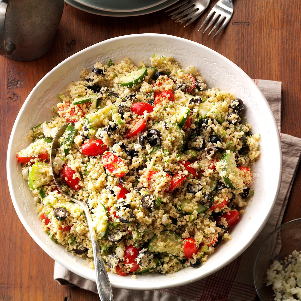 Coucous Salad Greek couscous salad recipe taste of home sisterspd