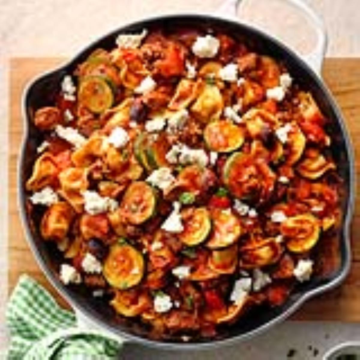 Greek Ravioli Skillet Recipe