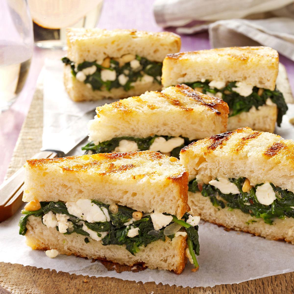 Greek sandwich bites recipe taste of home forumfinder Gallery