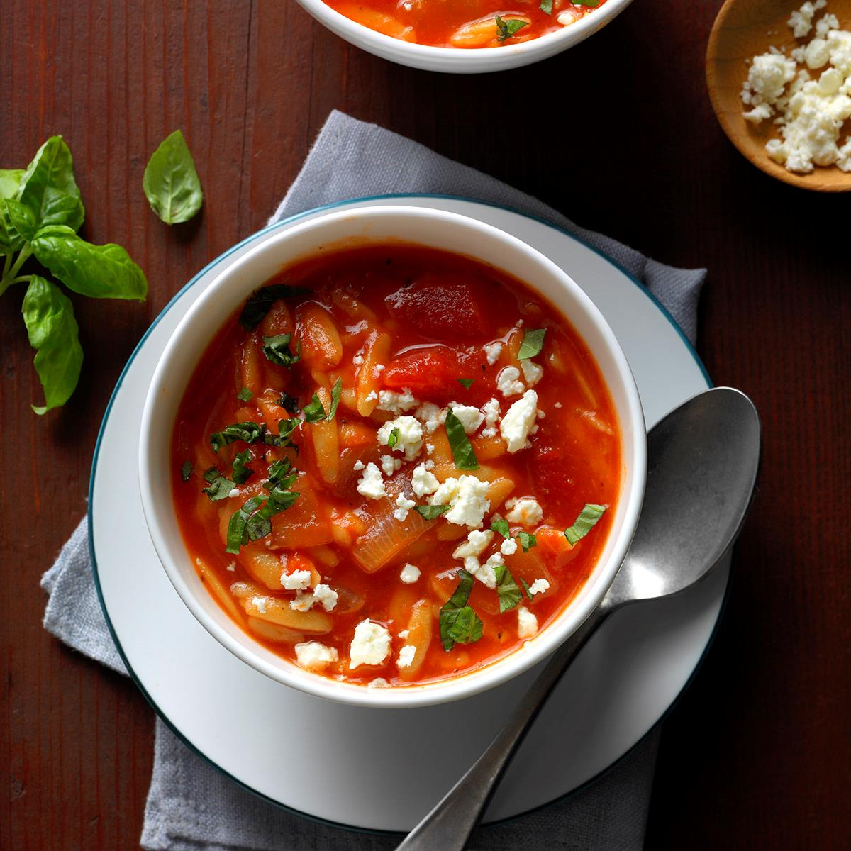 What Does Rms Mean >> Greek Tomato Soup with Orzo Recipe | Taste of Home