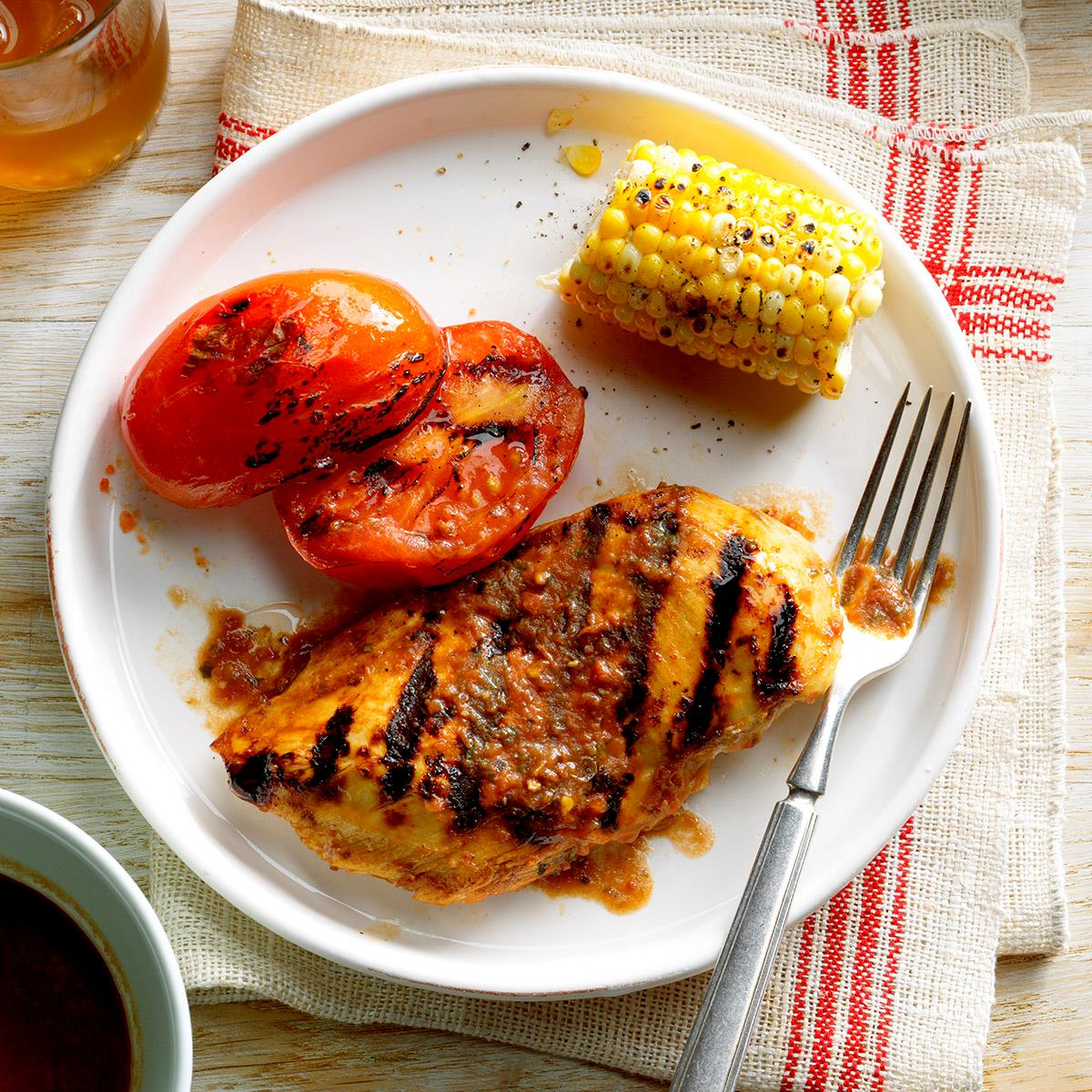 Grilled Basil Chicken And Tomatoes Recipe