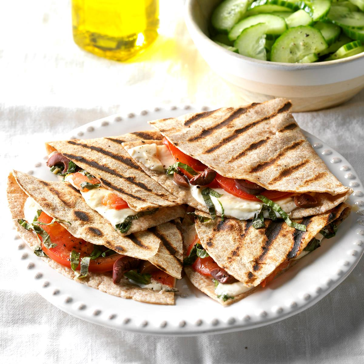 Grilled Caprese Quesadillas Recipe Taste Of Home