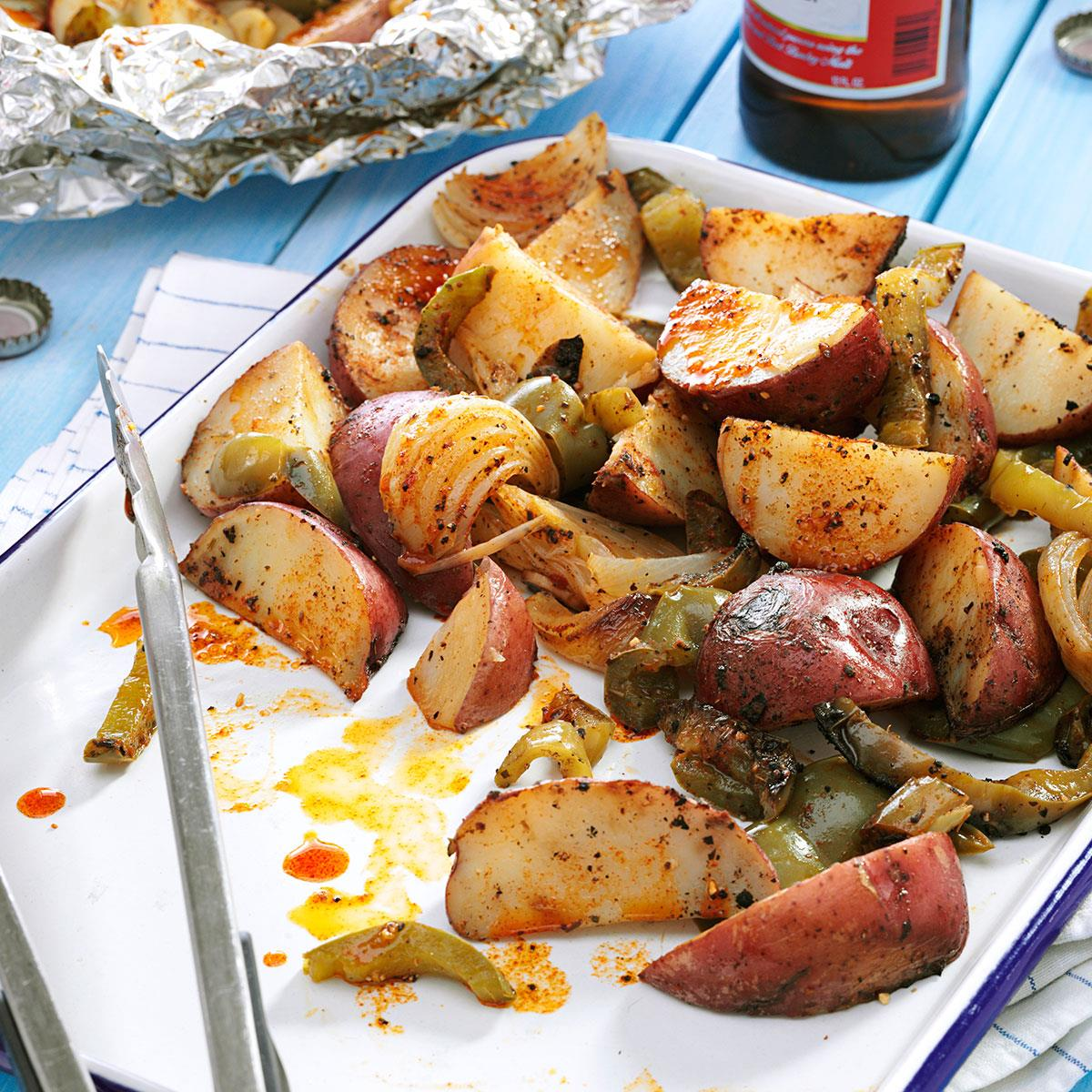 Grilled Potatoes & Peppers Recipe