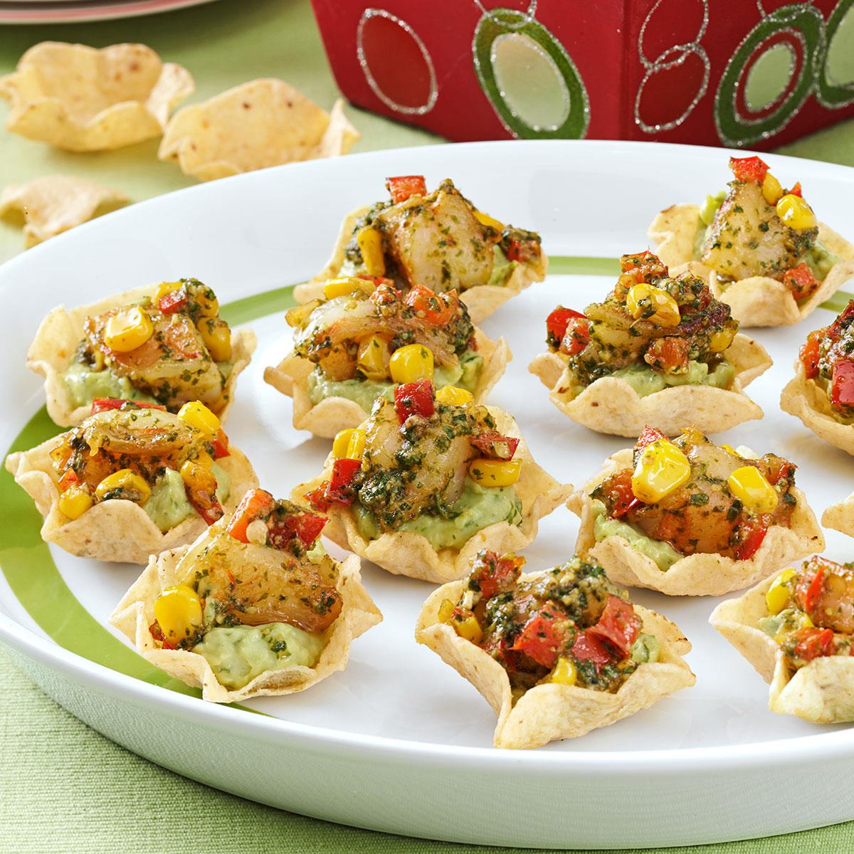 Guacamole shrimp appetizers recipe taste of home for Appetizers to make at home