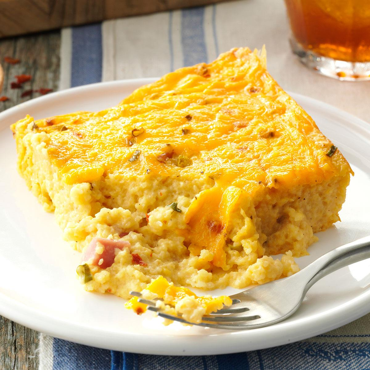 Ham & Cheese Grits Casserole Recipe