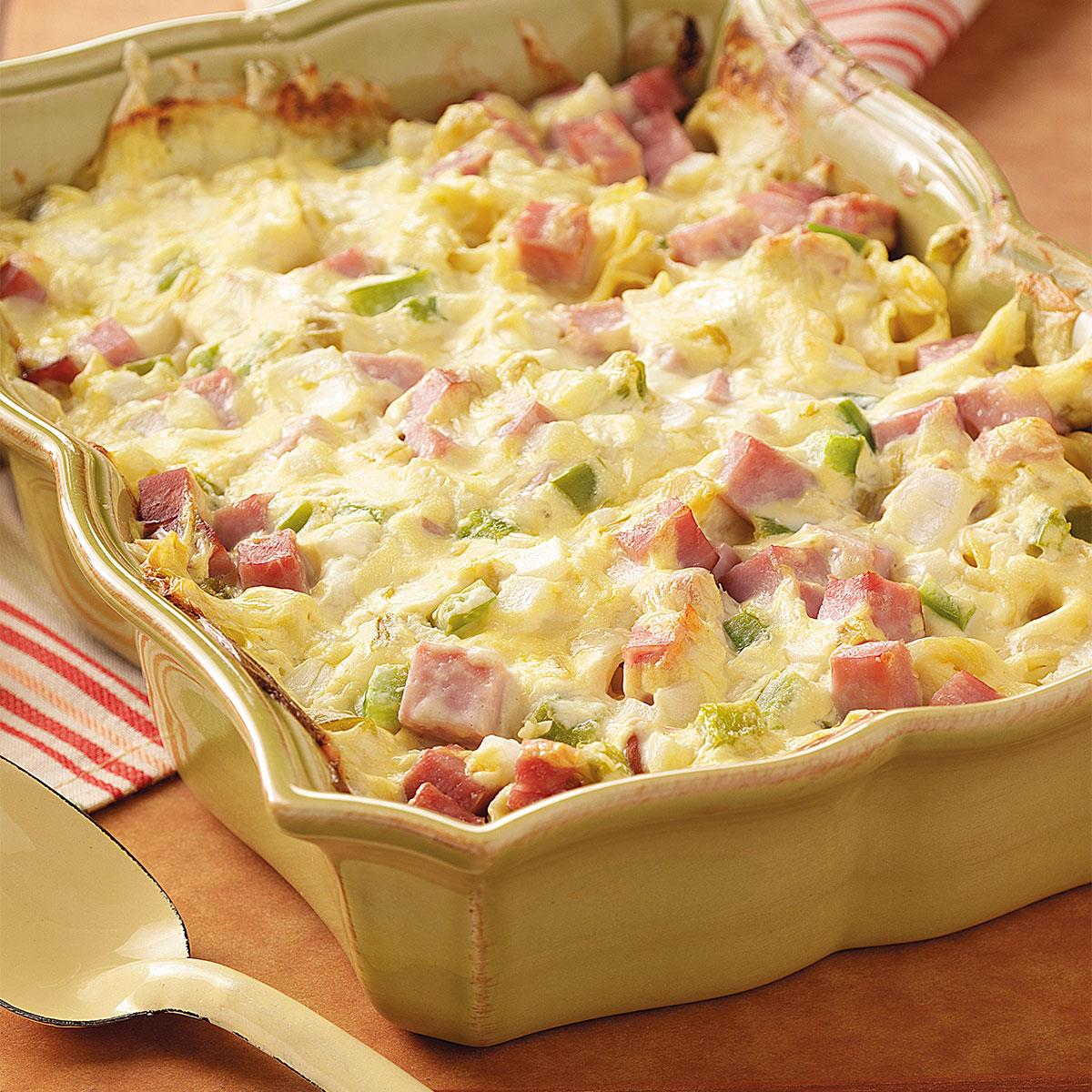 Ham and Swiss Casserole Recipe | Taste of Home