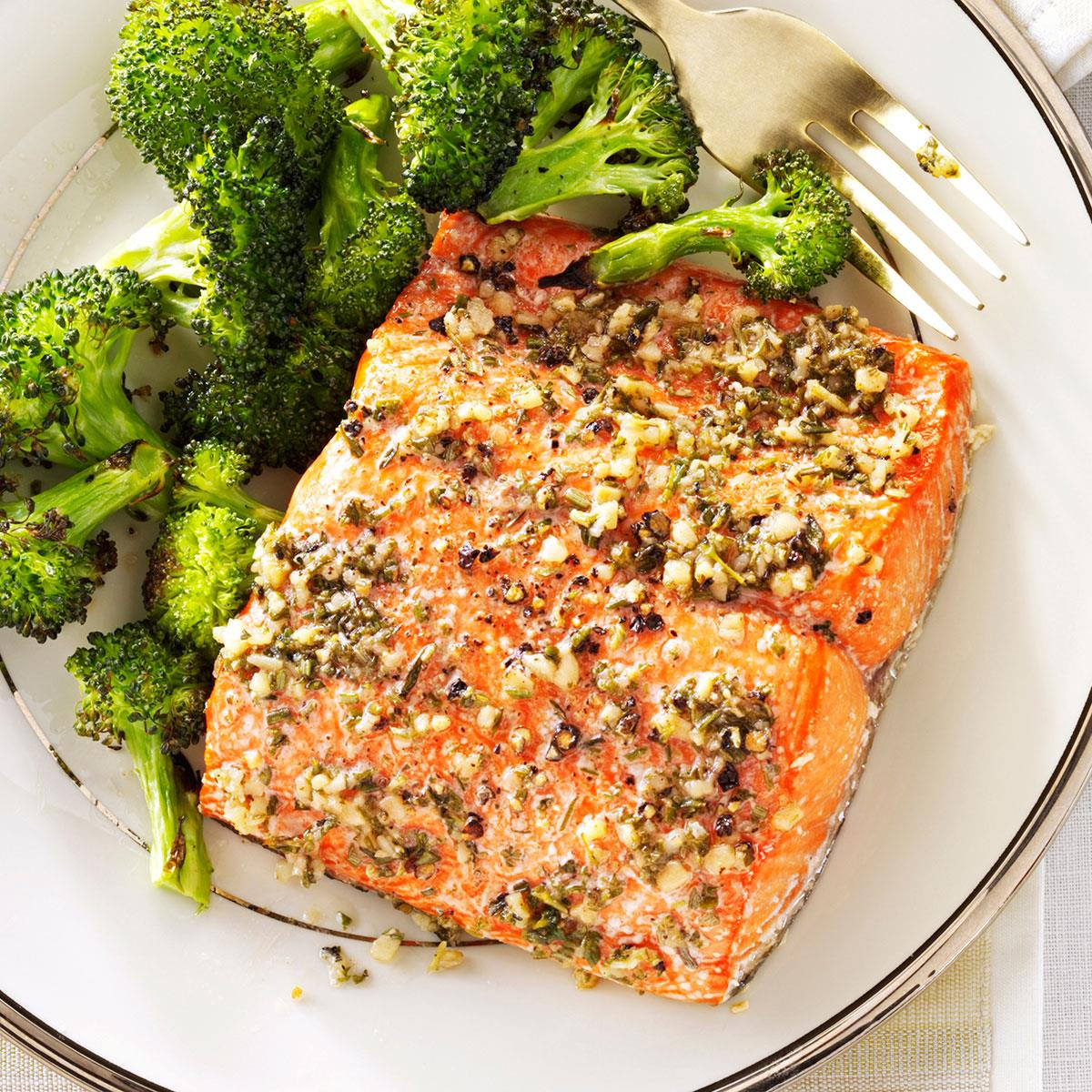Herb-Roasted Salmon Fillets Recipe | Taste of Home