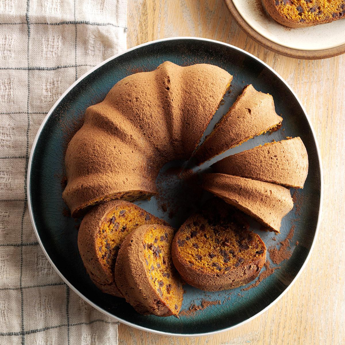 Pumpkin And Chocolate Chip Cake