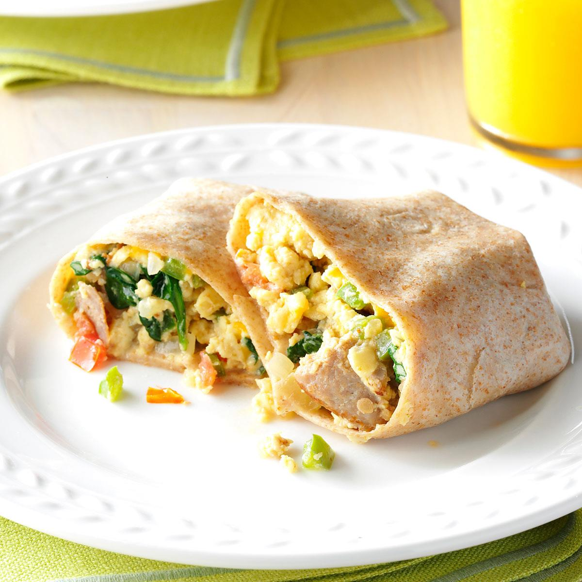 Easy Italian Desserts For A Crowd: Italian Sausage Breakfast Wraps Recipe