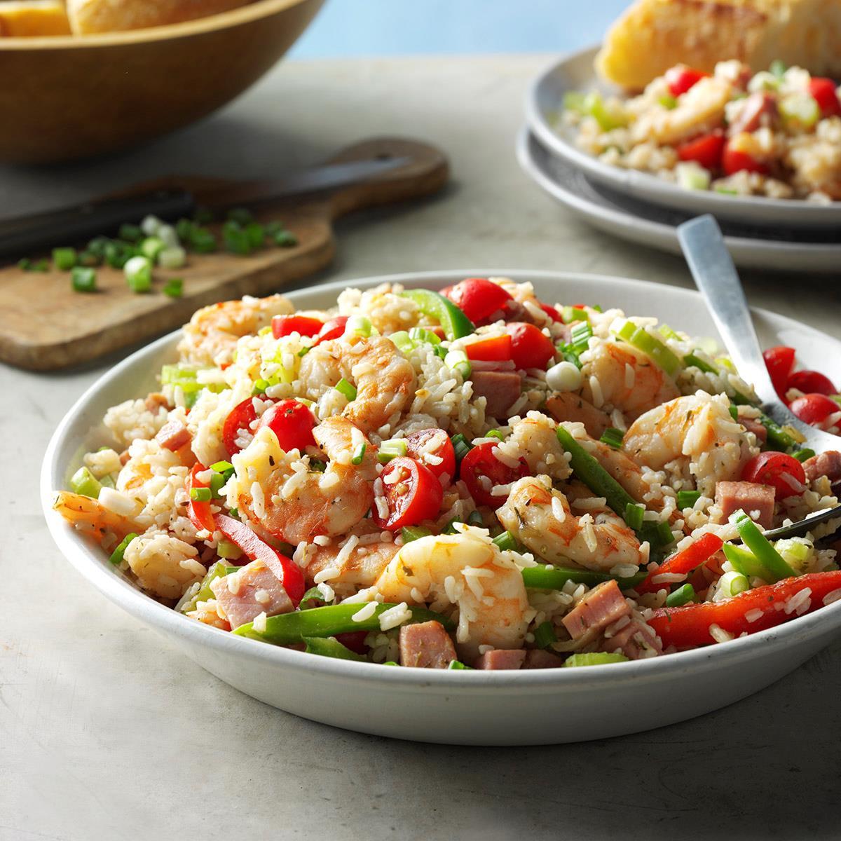 Jambalaya Rice Salad Recipe Taste Of Home