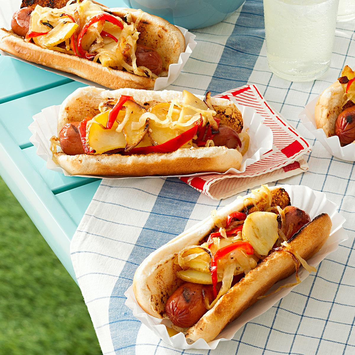 45 Easy Camping Recipes: Jersey-Style Hot Dogs Recipe