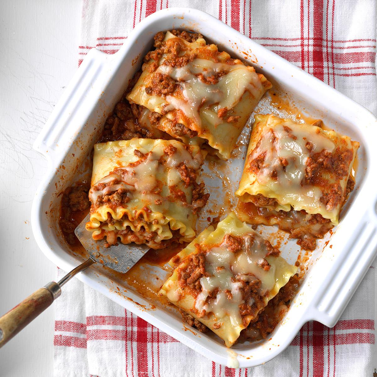Lasagna Rolls Recipe   Taste of Home