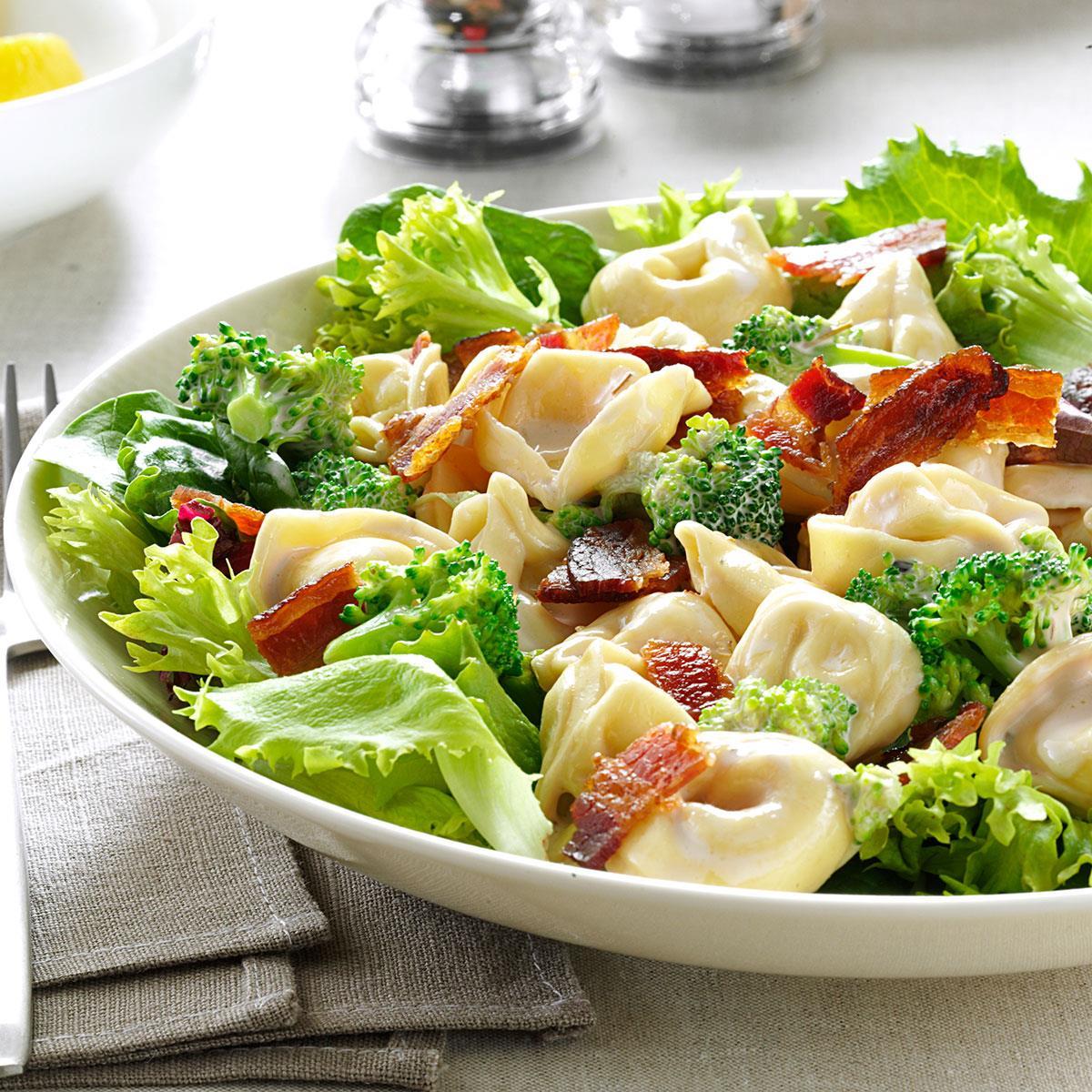 Lemony Tortellini Bacon Salad Recipe Taste Of Home