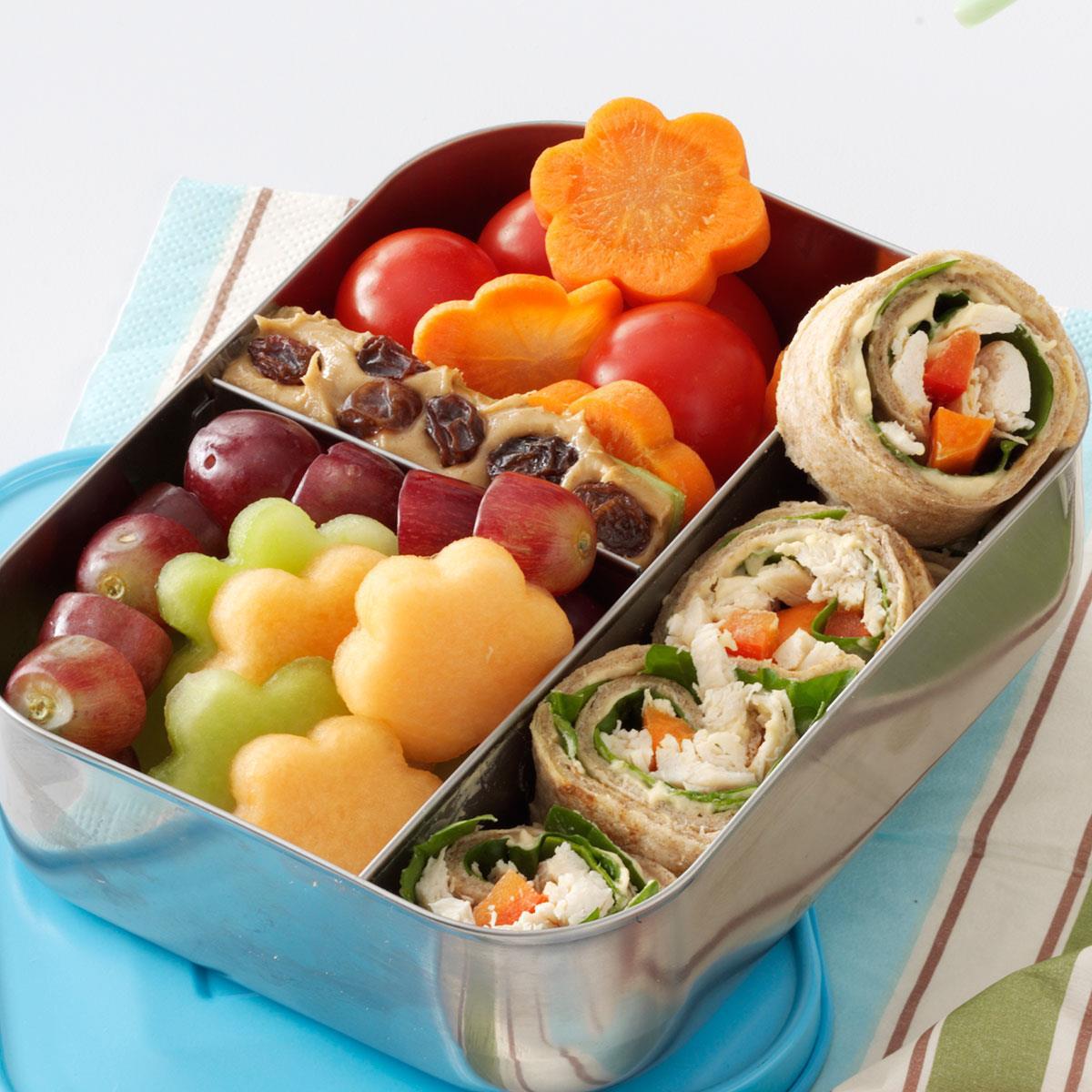 Lunch box chicken wrap recipe taste of home forumfinder Gallery