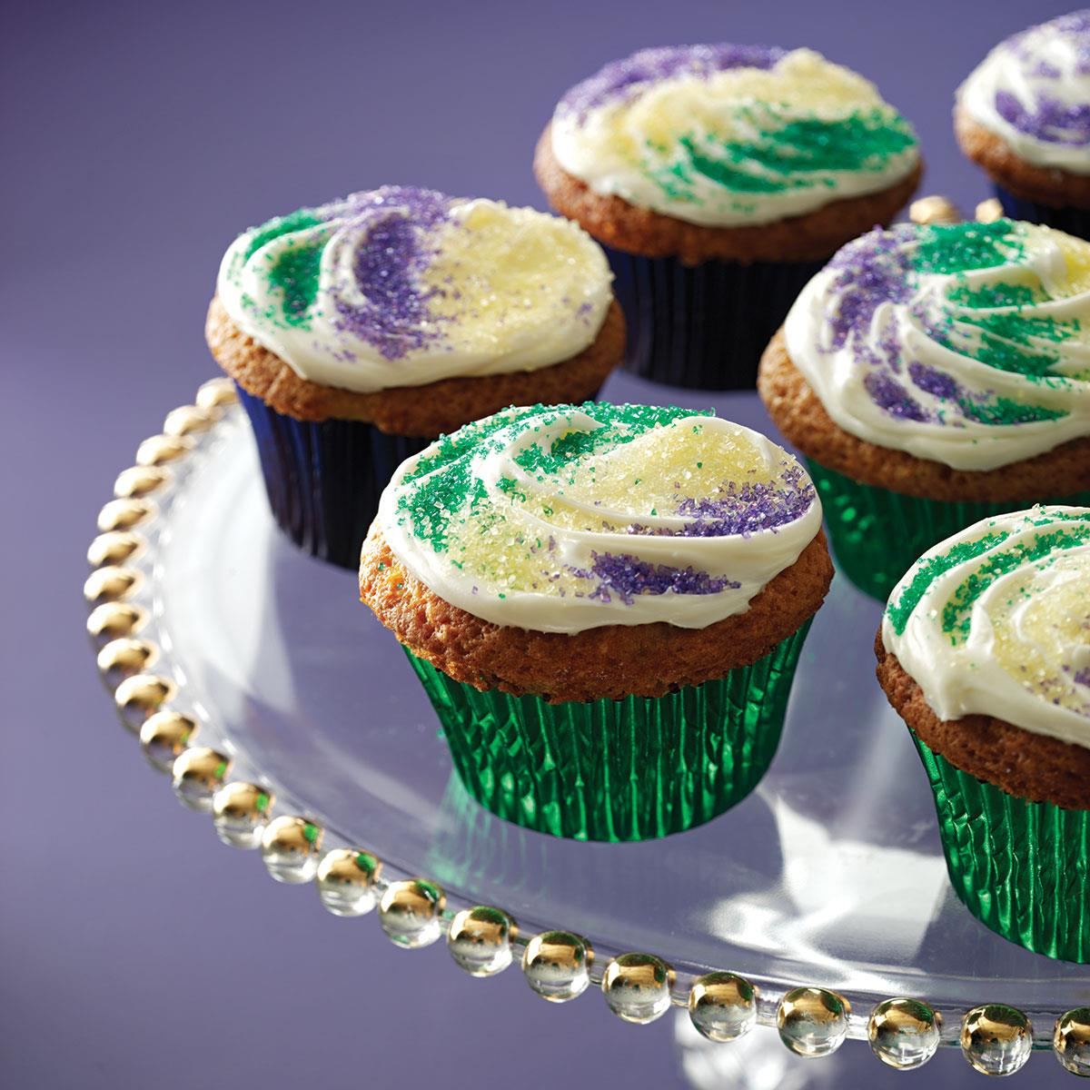 Mardi gras cupcakes recipe taste of home forumfinder Gallery