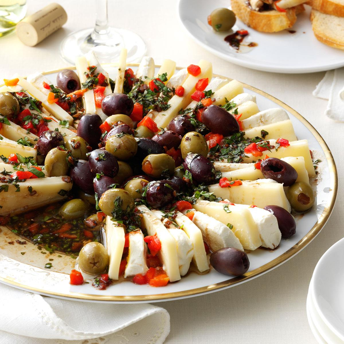 Marinated Olive Amp Cheese Ring Recipe Taste Of Home