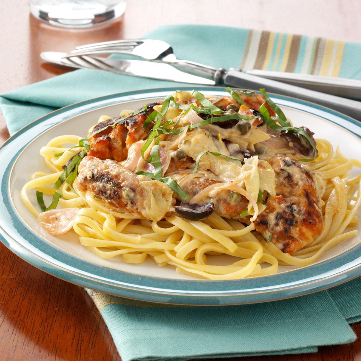 Mediterranean Style Chicken Recipe: Mediterranean Chicken In Creamy Herb Sauce Recipe