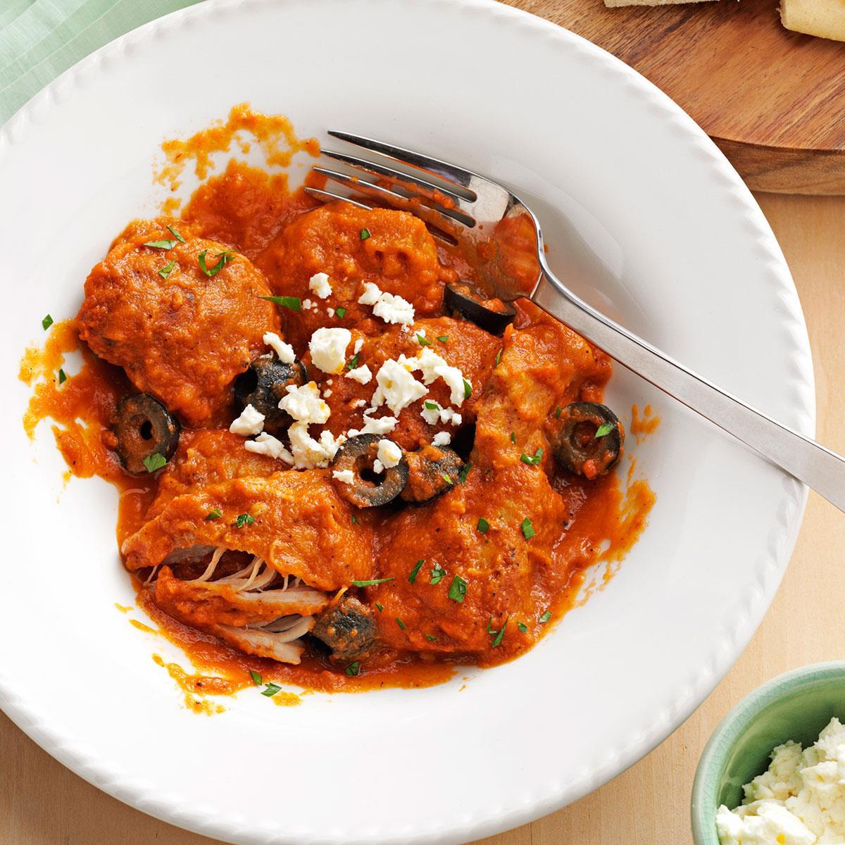 Mediterranean chicken in eggplant sauce recipe taste of home forumfinder Choice Image