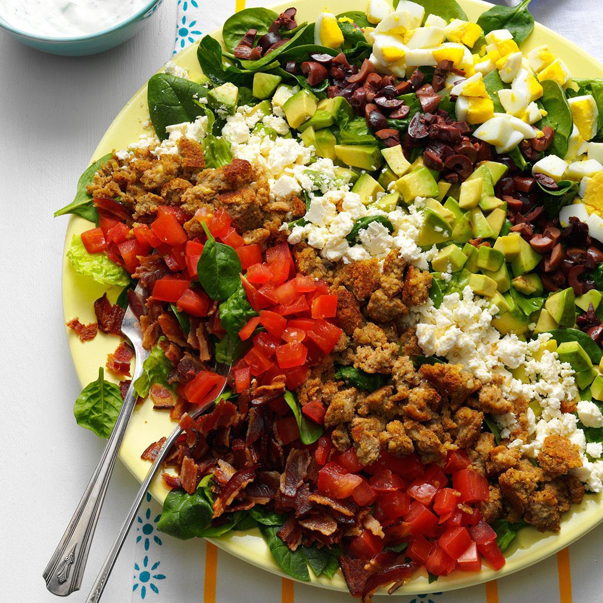 Mediterranean Style Recipes: Mediterranean Cobb Salad Recipe