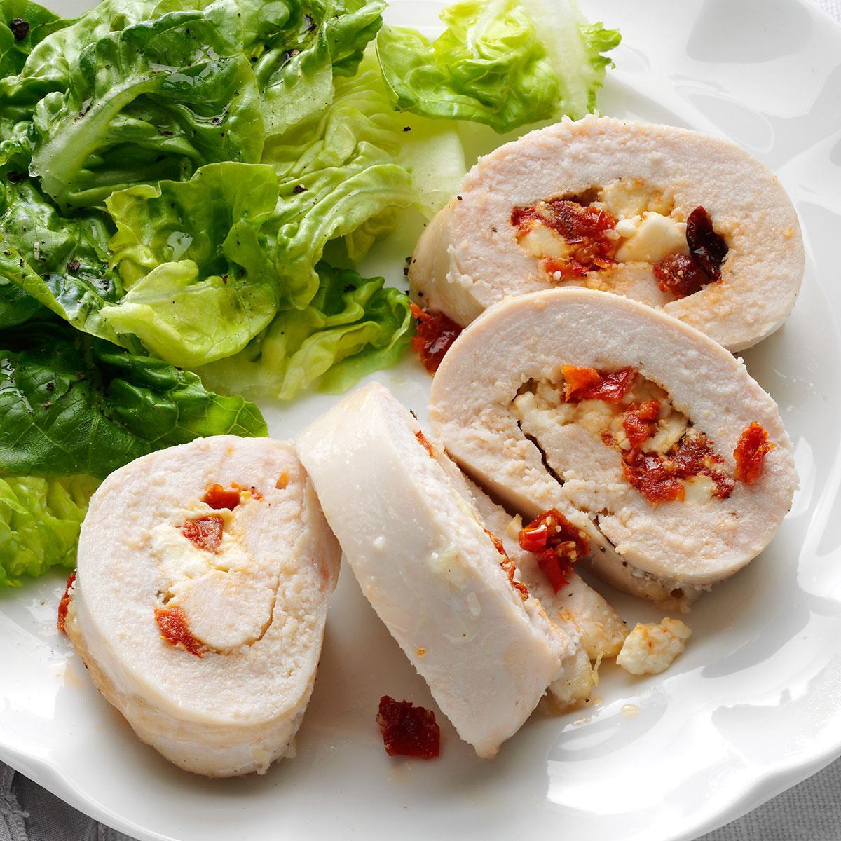 Mediterranean Stuffed Chicken Breasts Recipe Taste Of Home