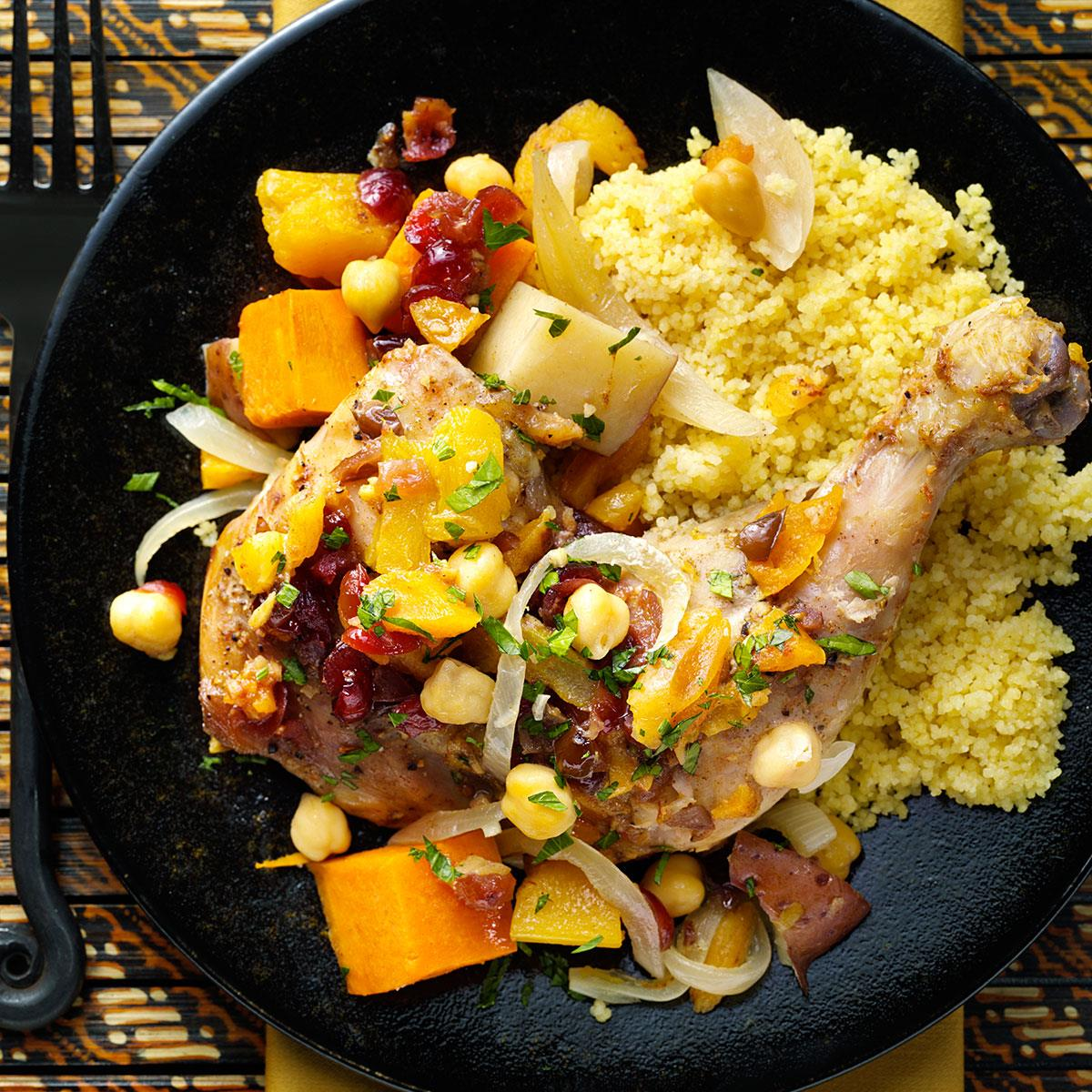 Moroccan vegetable chicken tagine recipe taste of home forumfinder Image collections