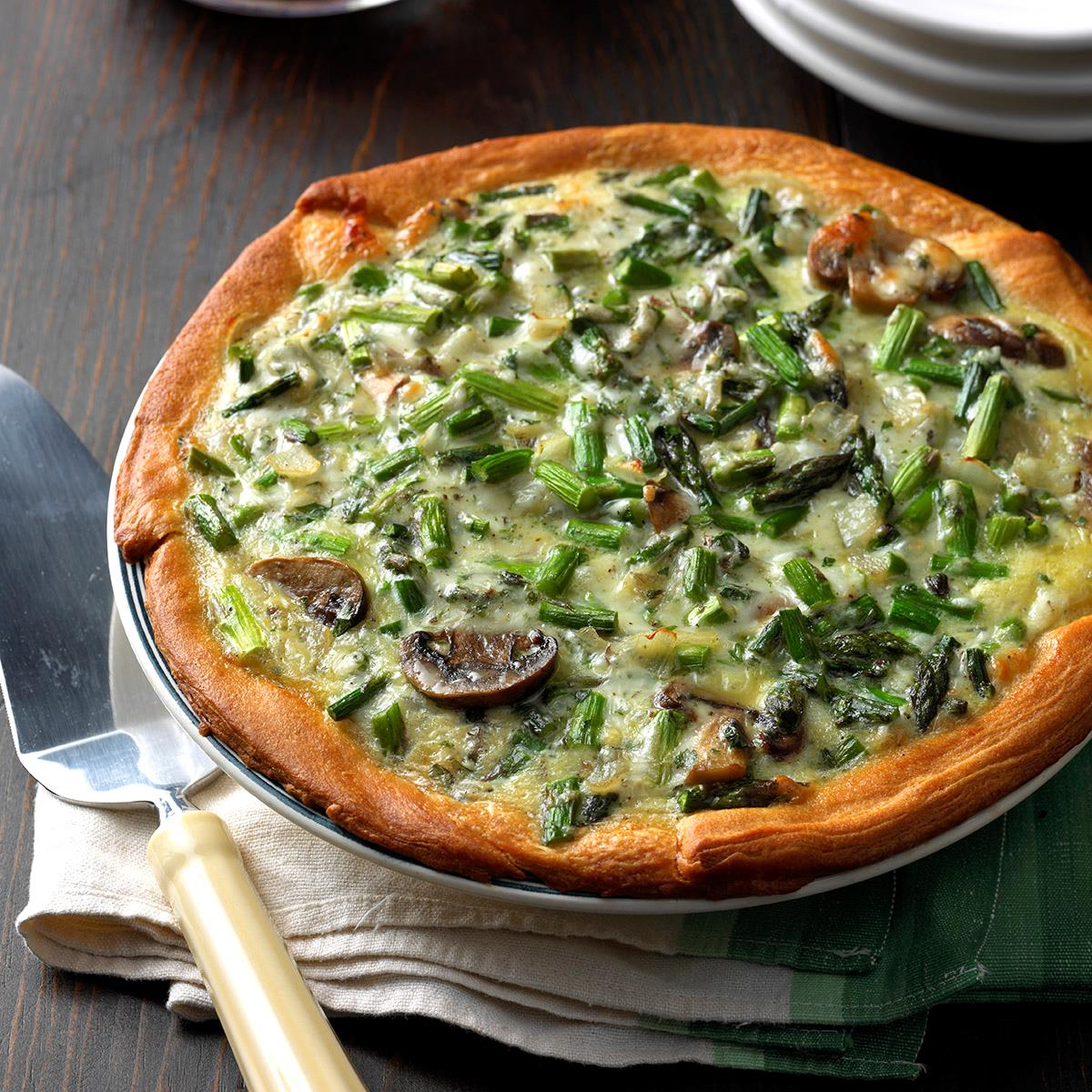 Mushroom asparagus quiche recipe taste of home forumfinder Image collections
