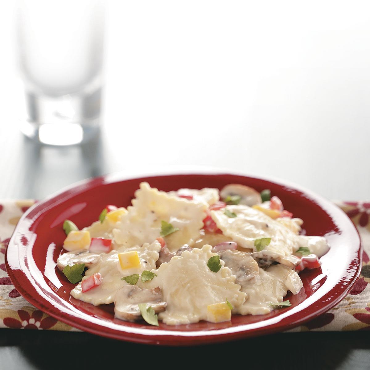 Mushroom Cheese Ravioli Recipe | Taste of Home