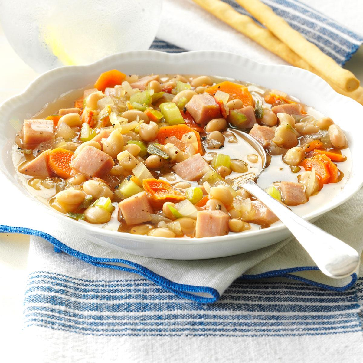 Navy bean vegetable soup recipe taste of home forumfinder Choice Image