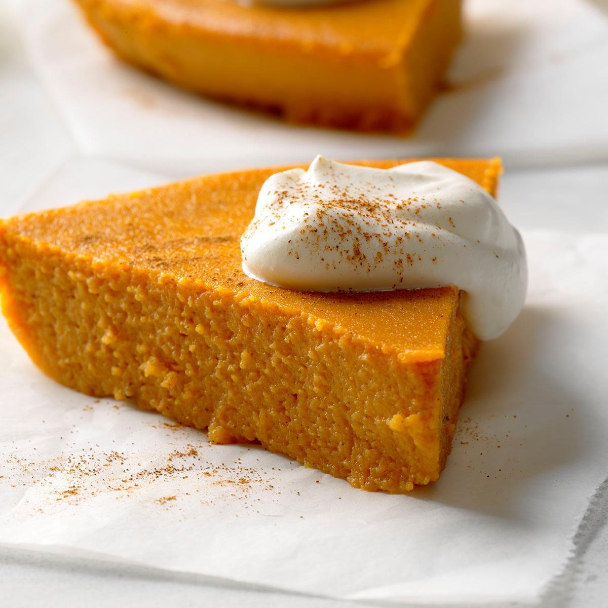 No-Crust Pumpkin Pie Recipe