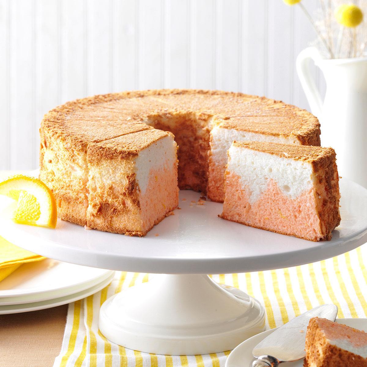 Orange dream angel food cake recipe taste of home forumfinder Choice Image
