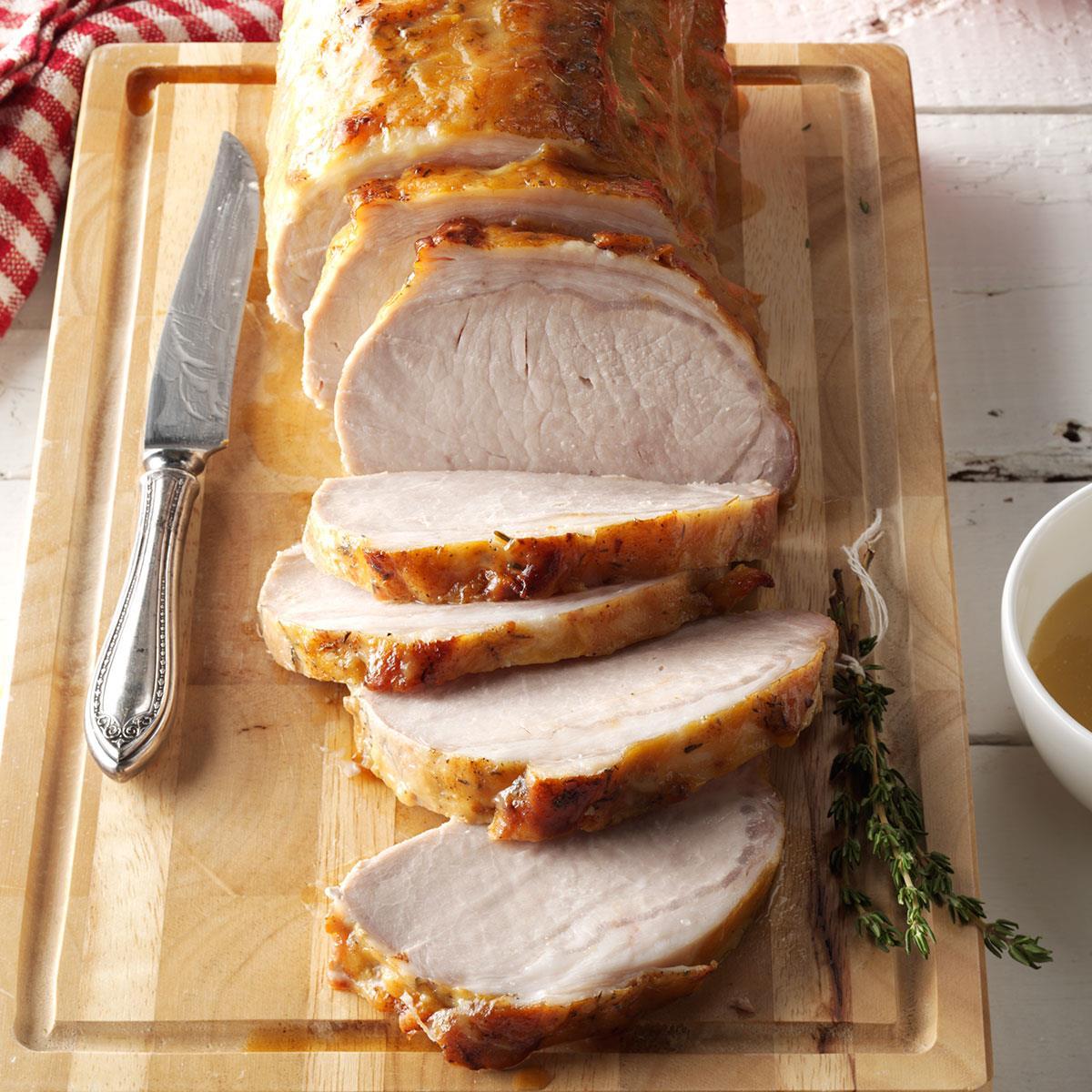 Orange Glazed Pork Loin Recipe Taste Of Home