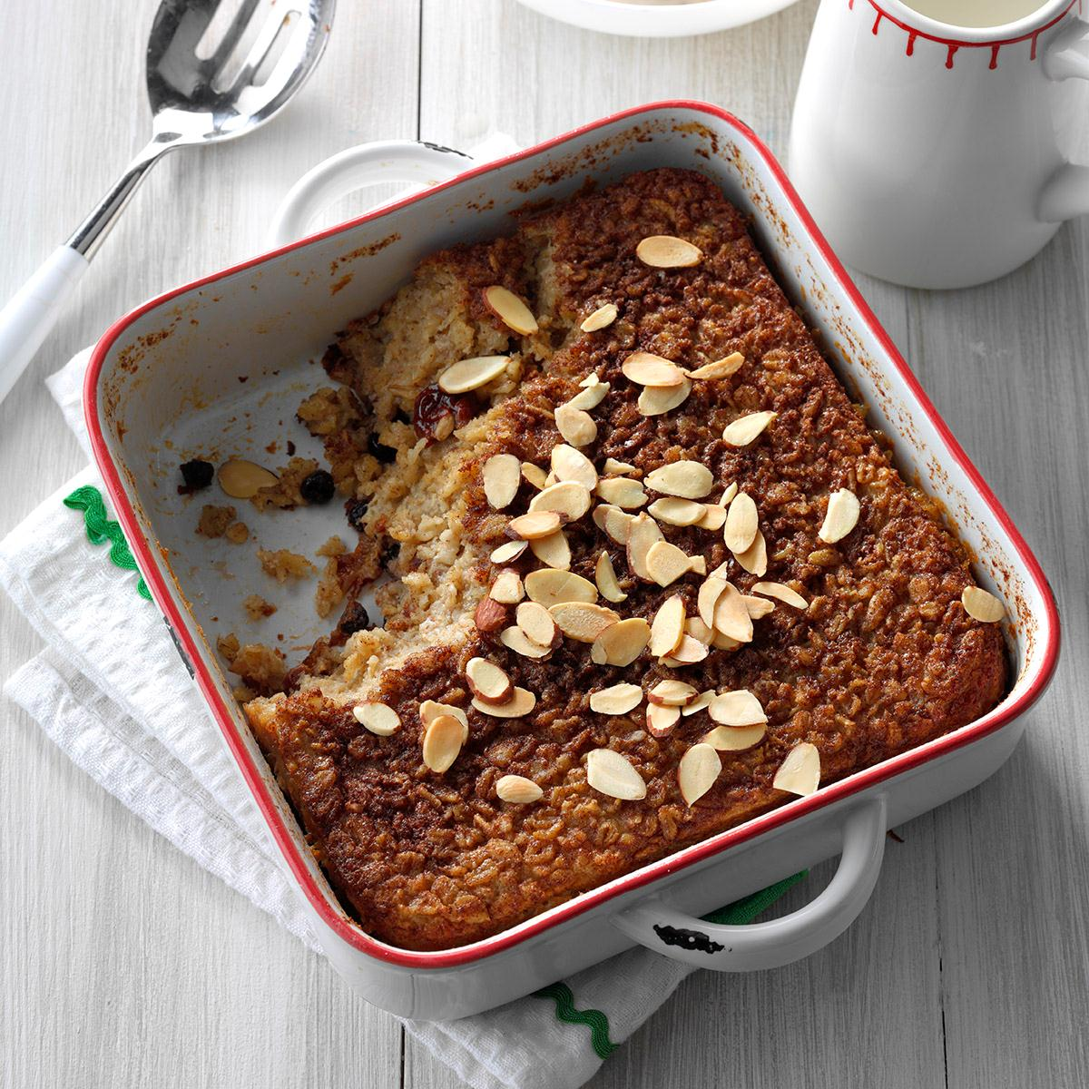 Overnight baked oatmeal recipe taste of home ccuart Image collections