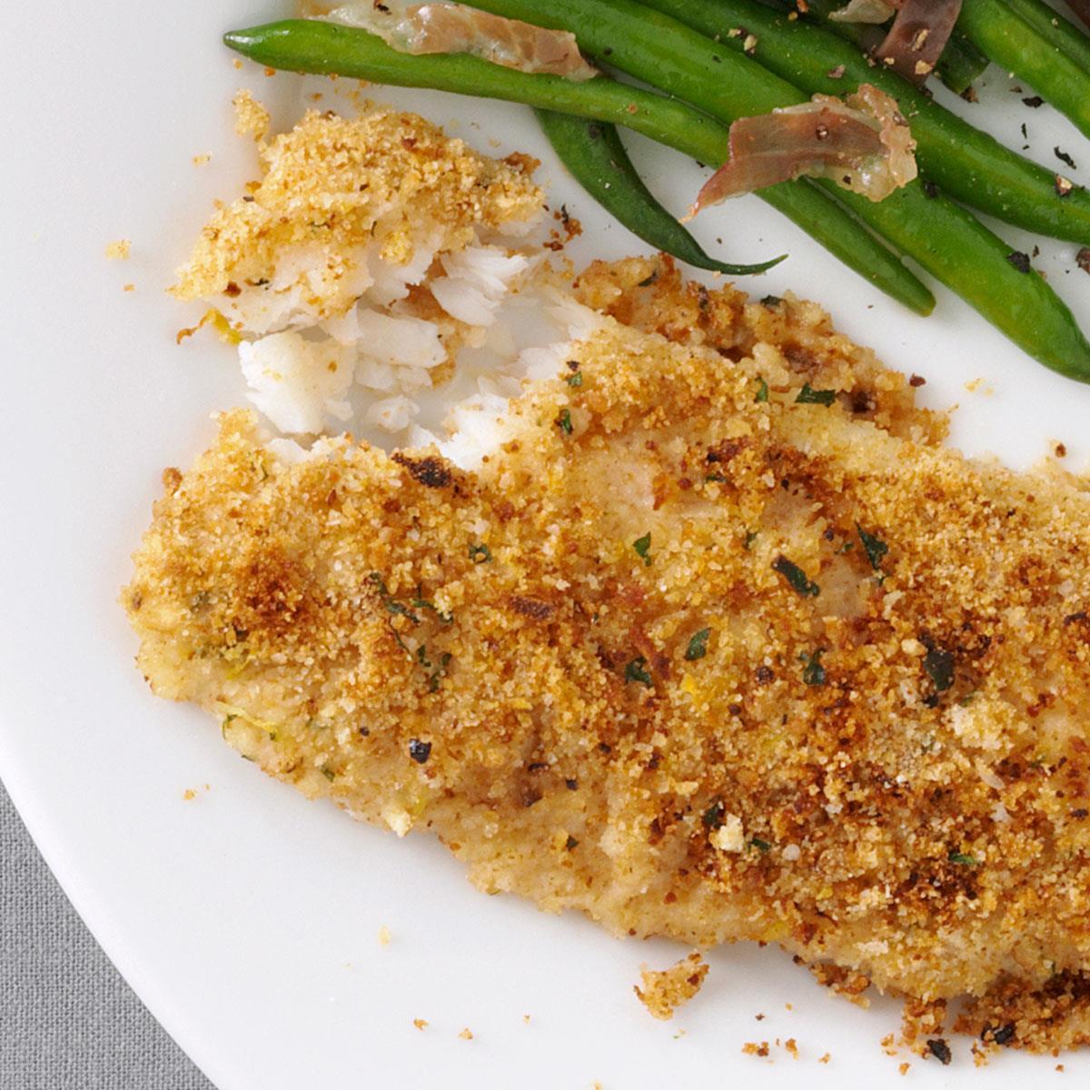 Parsley Crusted Cod Recipe Taste Of Home