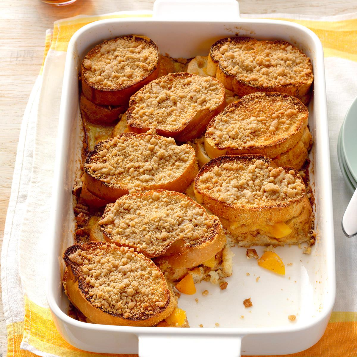 Peach-Stuffed French Toast Recipe | Taste of Home