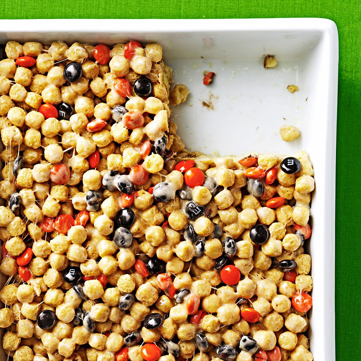 Peanut butter cereal treats recipe taste of home ccuart Choice Image