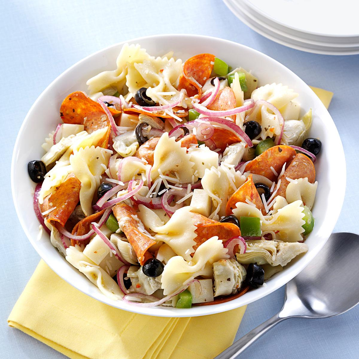 Pepperoni Artichoke Pasta Salad Recipe Taste Of Home